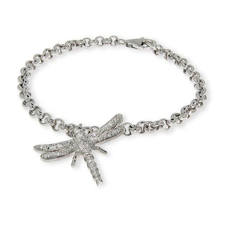 CZ Dragonfly Charm Bracelet | Eve's Addiction®