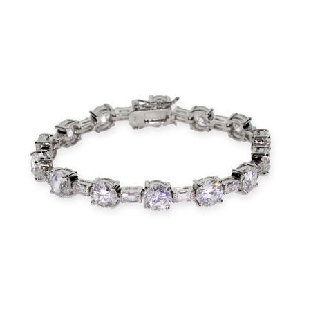 Sparkling Brilliant Cut CZ Tennis Bracelet | Eve's Addiction®