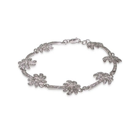 Sterling Silver Palm Tree Bracelet | Eve's Addiction®