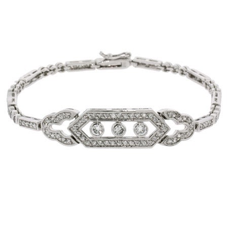 Deco Vintage Style CZ Tennis Bracelet | Eve's Addiction®