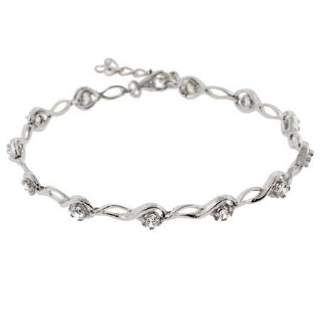 Sterling silver diamond accent tennis bracelet under 100