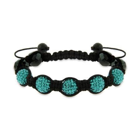 Blue Beaded Shamballa Style Bracelet | Eve's Addiction