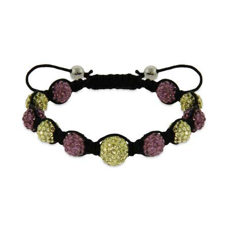 Lavender and Gold Austrian Crystal Bracelet