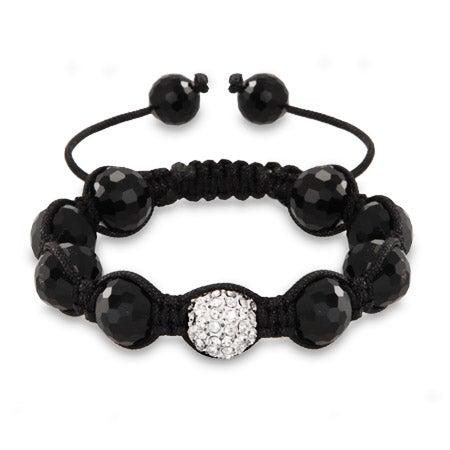 Austrian Crystal and Disco Balls Shamballa Inspired Bracelet | Eve's Addiction®