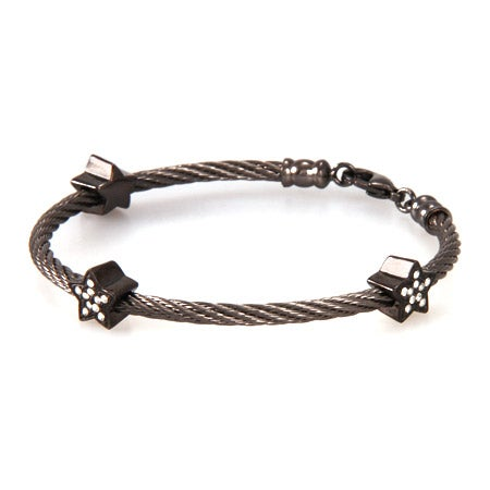 Designer Inspired Stackable Rope Bracelet with CZ Stars | Eve's Addiction®