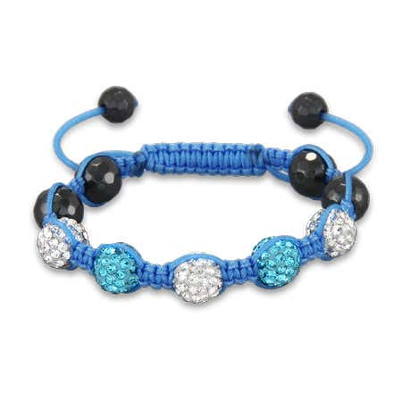Shades of Sky Blue Kids Shamballa Style Bracelet   Eve's Addiction®