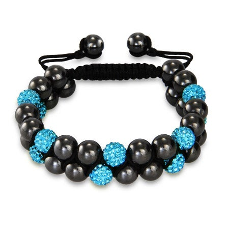 Designer Inspired Aquamarine Crystal Spiritual Bead Bracelet | Eve's Addiction®