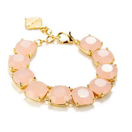 Fornash Charlotte Bracelet with Light Pink Stones
