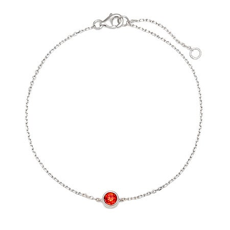 1 CZ Personalized Birthstone Bracelet | Eve's Addiction