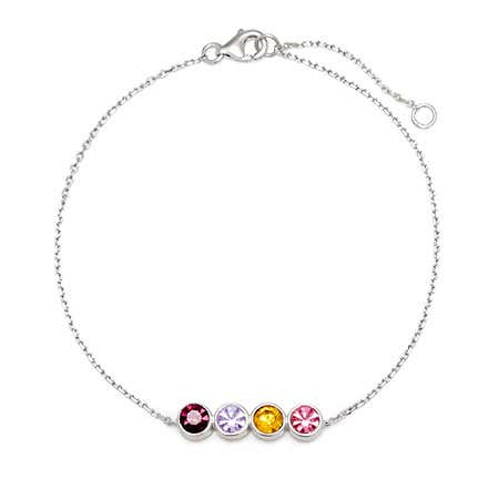 4 Stone Custom Birthstone Bracelet | Eve's Addiction