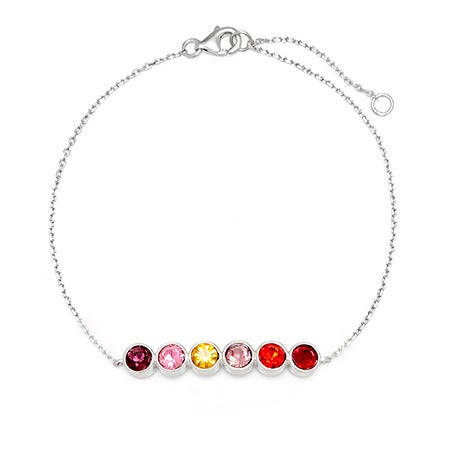 Custom 6 Stone Birthstone Bracelet | Eve's Addiction