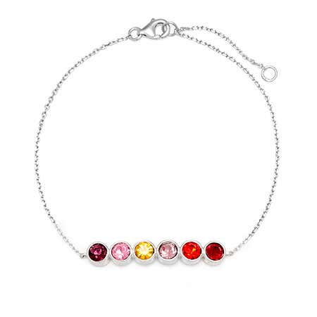 Custom 6 Stone Birthstone Bracelet