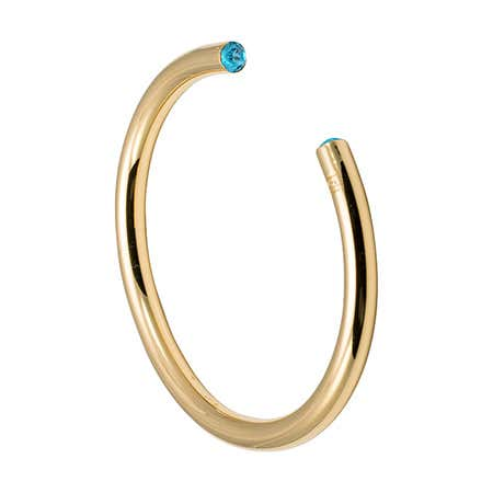 March CZ Gold Birthstone Cuff Bracelet by Stella Valle