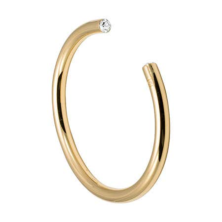 April CZ Gold Birthstone Cuff Bracelet by Stella Valle