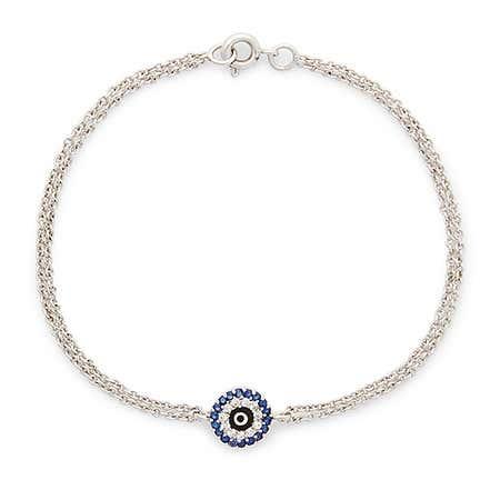 Sterling Silver Evil Eye Bracelet | Silver Evil Eye Bracelet