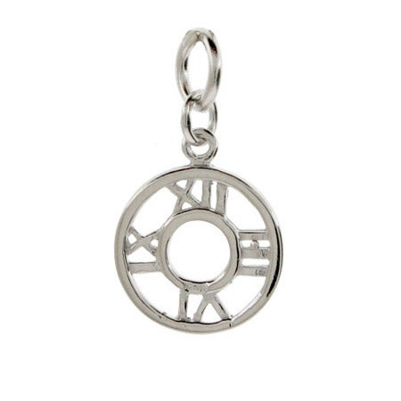 Sterling Silver Roman Numeral Disc Charm