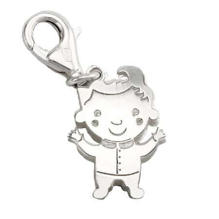 Sterling Silver Happy Boy Charm
