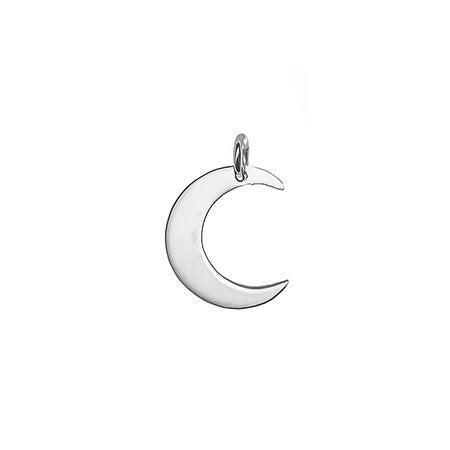Crescent Moon Silver Charm