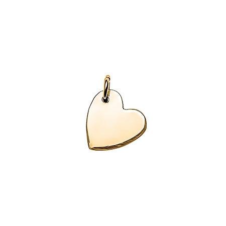 Sideways Heart Gold Charm