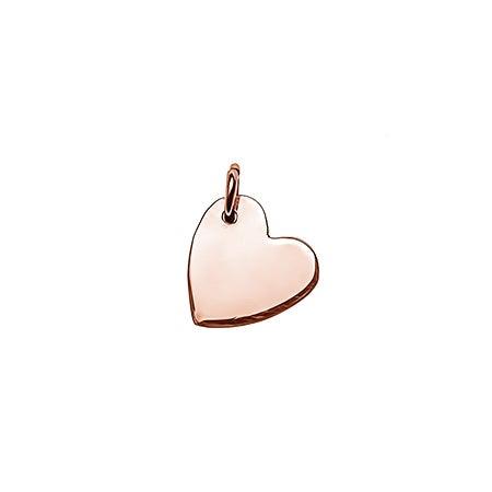 Sideways Heart Rose Gold Charm