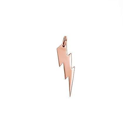 Rose Gold Lightning Bolt Charm