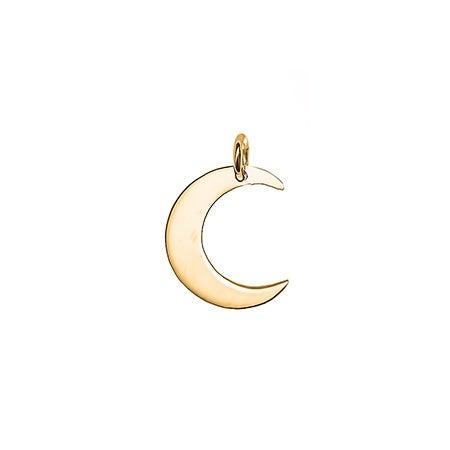 Crescent Moon Gold Charm