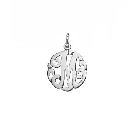 Petite Initial Sterling Silver Monogram Charm
