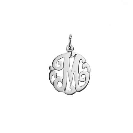 Petite Initial Sterling Silver Monogram Charm