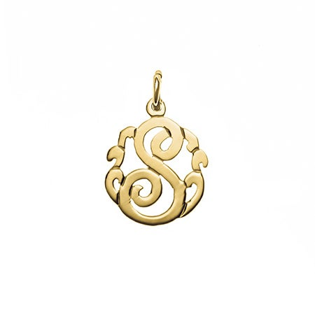 Petite Initial Gold Monogram Style Charm