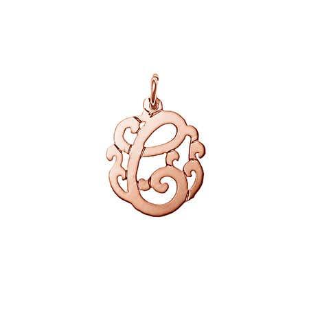 Petite Initial Rose Gold Monogram Charm