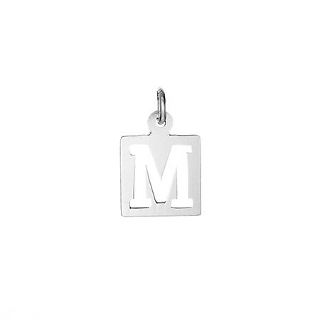 Cut Out Initial Silver Charm
