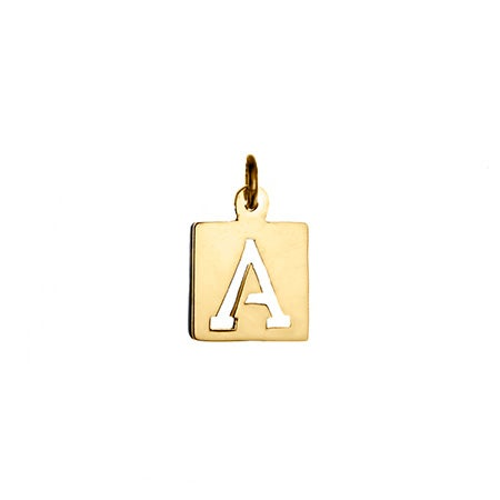 Gold Cut Out Initial Charm