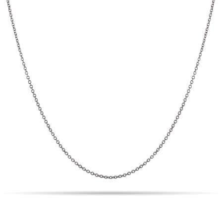 Sterling Silver Rolo Rhodium Chain