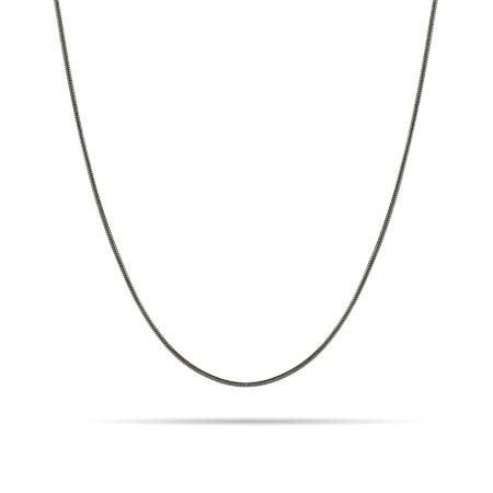 Sterling Silver Rhodium Snake Chain
