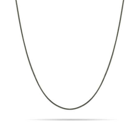 Sterling Silver Rhodium Snake Chain