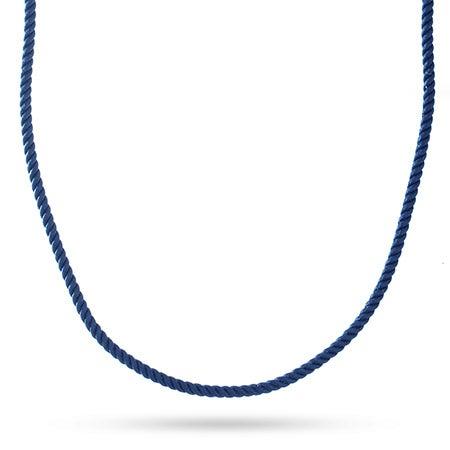 Navy Blue Braided Silk Cord