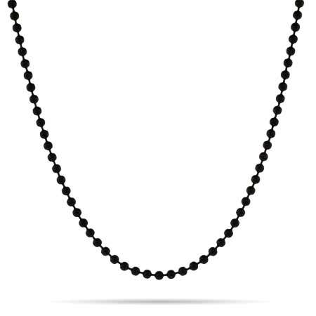 display slide 1 of 2 - Black IP Bead Chain - selected slide