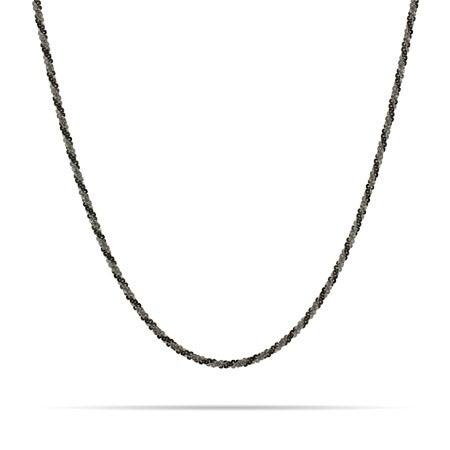 Diamond Cut Black Rhodium Silver Twist Chain