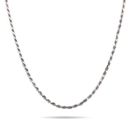 display slide 1 of 1 - Sterling Silver Rhodium Braided Chain - selected slide