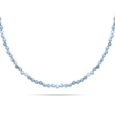Aquamarine Stone Beaded Chain
