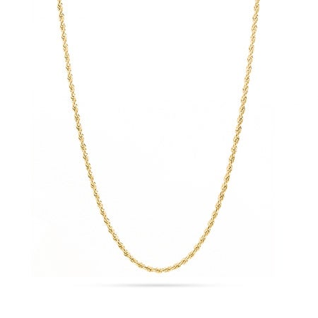 Gold Rope Chain In Stainless Steel