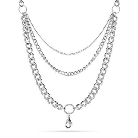 "28"" Rhodium Layered Chain For Floating Lockets"