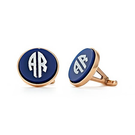 Block Style Two Initial Acrylic Cufflinks | Eve's Addiction®