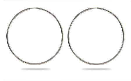 Continuous Hoop Earrings - 2.5 Inch