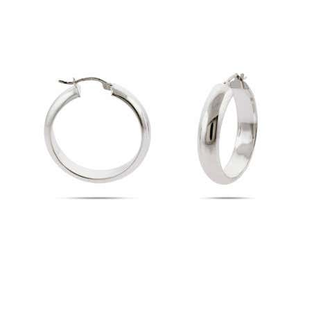 Sterling Silver 1.25 Inch Bangle Hoop Earrings
