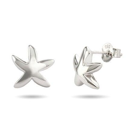 Designer Style Silver Starfish Earrings