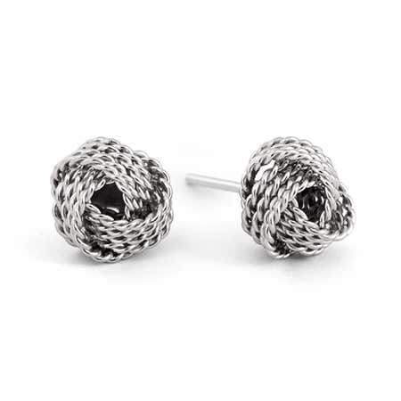 Designer Style Textured Knot Mesh Earrings | Eve's Addiction®