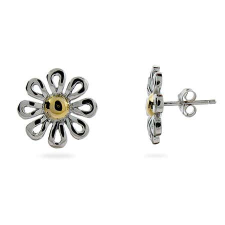 925 Sterling Silver Daisy Stud Earrings | Eve's Addiction®