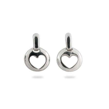 Designer Style Stencil Heart Earrings