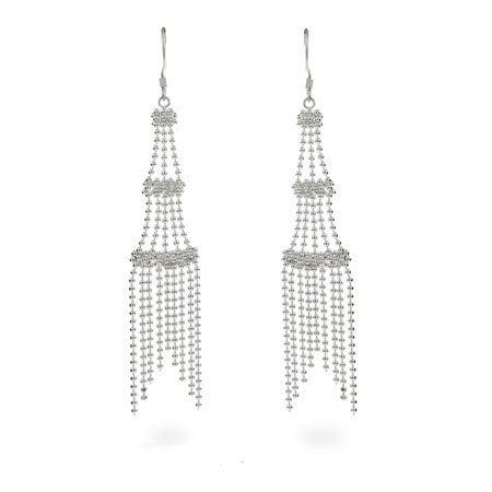 Designer Style Sterling Silver Chandelier Earrings | Eve's Addiction®